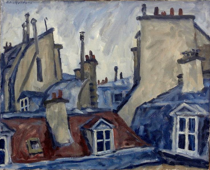 Paris Rooftops Painting