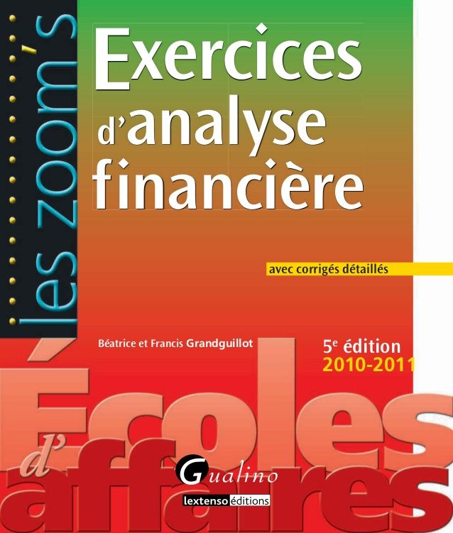 Exercices d analyse financière