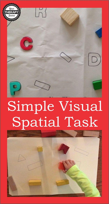 simple visual spatial tasks
