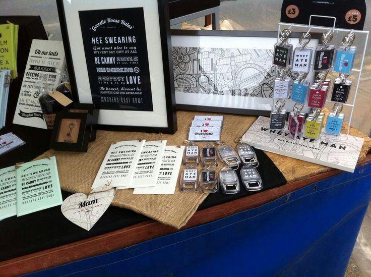 Geordie gifts Quayside market.