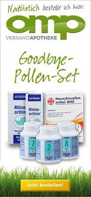 Good-Bye-Pollen-Set - Nr. 2, 7 und 8 + Heuschnupfenmittel DHU + Rhino orthim + Taschentücher gratis - Schüssler Salze Sets - Schüssler Salze...