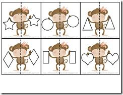 Shape puzzles with preferred character/object...great for fractions with Extend 1 students!