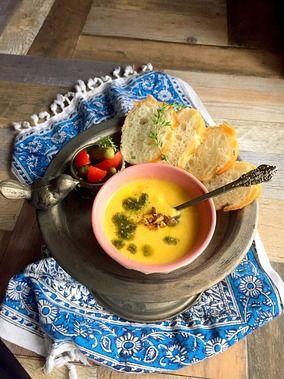 ピスタチオ入りかぼちゃとクラムチャウダーのスープ 簡単・美味しく美活・朝ポタ ♪  レシピブログ