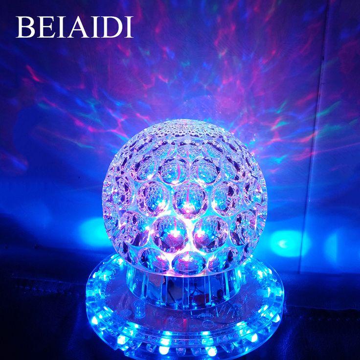 BEIAIDI Mini RVB Cristal Magic Ball LED Étape Effet D'éclairage lampe Ampoule Projecteur Laser de Partie de Disco Club DJ Party Laser lumière