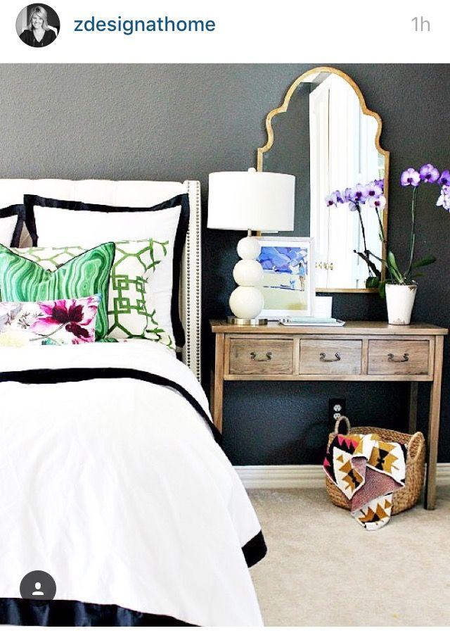 Mirror Behind Nightstand Bedroom Ideas Pinterest