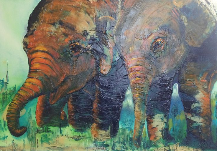 """""""Twins"""" by Kristy Flynn. Paintings for Sale. Bluethumb - Online Art Gallery"""