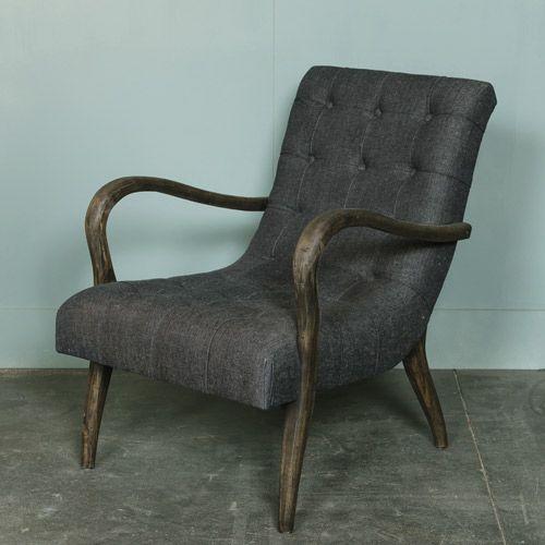 1000 id es propos de fauteuil capitonn sur pinterest chaises rembourr e - Fauteuil capitonne gris ...