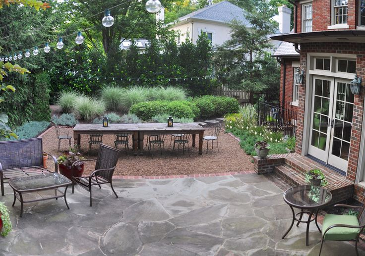 If only more clients would understand the beauty of pea gravel; no need to install formal hardscape all the time.