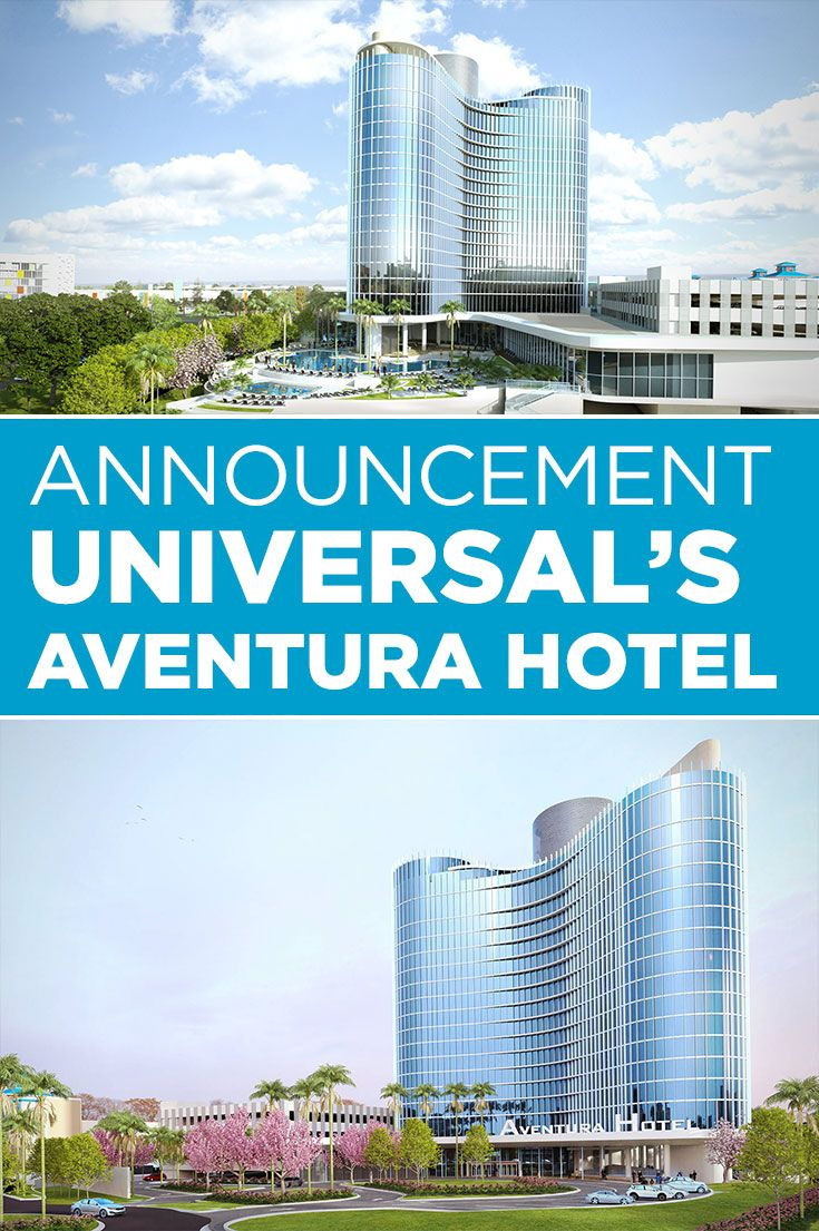 Introducing, Universal's Aventura Hotel. This 16-story tower of gleaming glass will become the destination's sixth resort hotel.