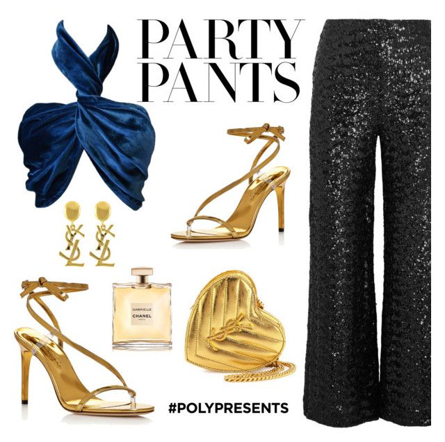 """""""#PolyPresents: Fancy Pants"""" by ctofan ❤ liked on Polyvore featuring Roland Mouret, Versace, Oscar de la Renta, Yves Saint Laurent, Chanel, contestentry and polyPresents"""