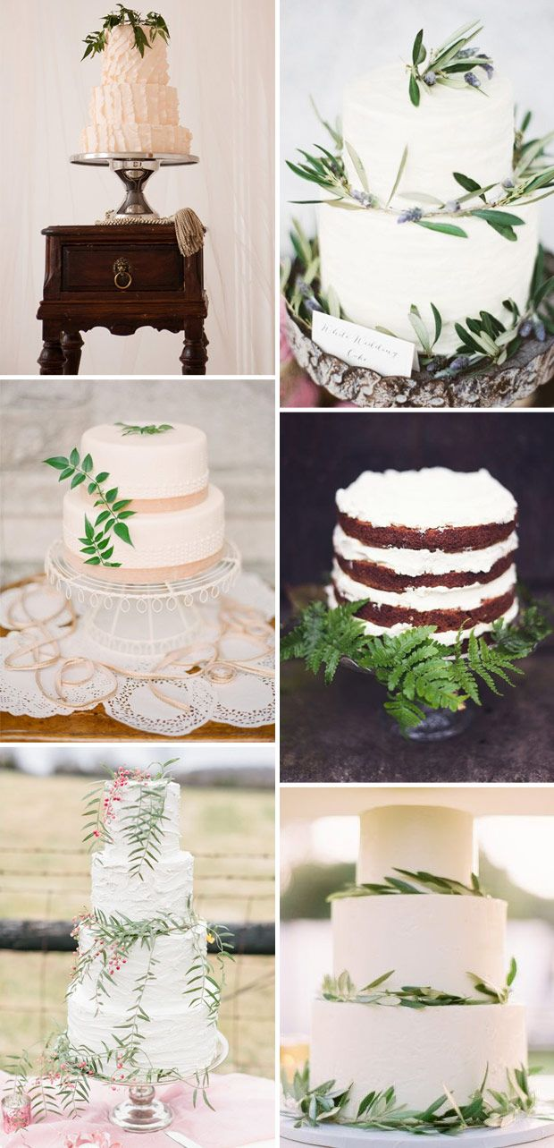 Simple Wedding Cake Decorating Ideas with Florals, Berries & Greens   One Fab Day