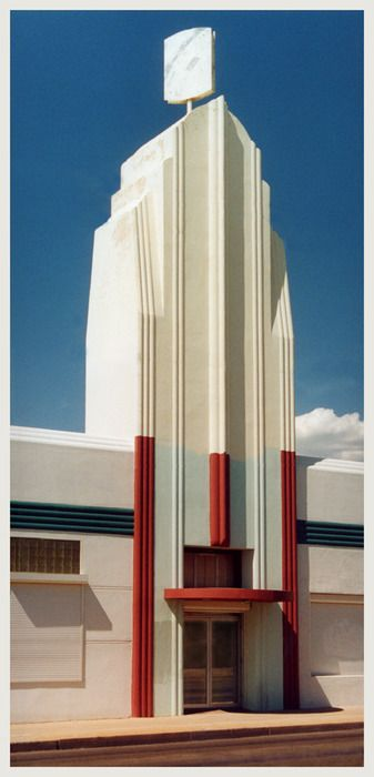 Vacant Art Deco building, Tuscon, ArizonaPhoto by unstrung65 Comment from the photographer: …was about 108 degrees ( F ) when I took this photo - downtown was deserted — felt like I'd wandered into the twilight zone….. loved that feeling. … located at 221 E Sixth St This building is on the National Register of Historic Buildings … is currently empty …very enigmatic … very hard to find information about … managed to check it out o