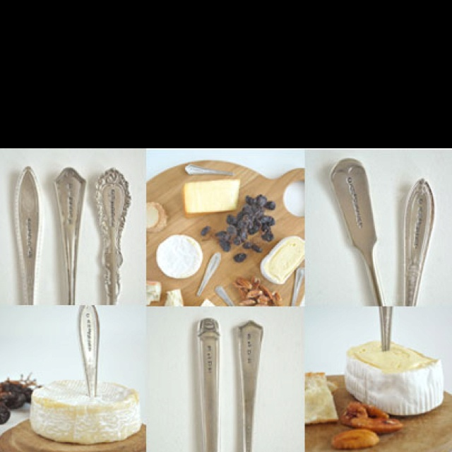 Love these vintage cheese markers