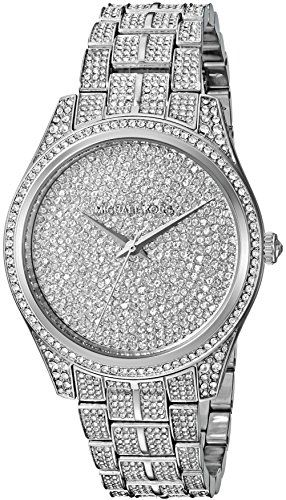 Michael Kors Womens Lauryn Quartz Stainless Steel Casual Watch ColorSilverToned ...