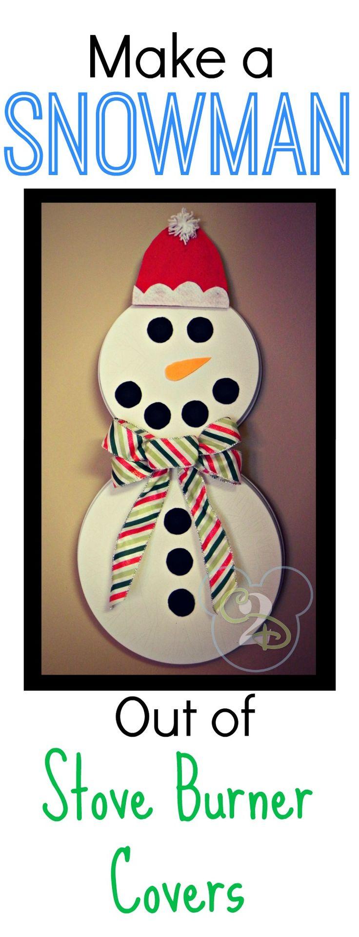 Burner Cover Snowman