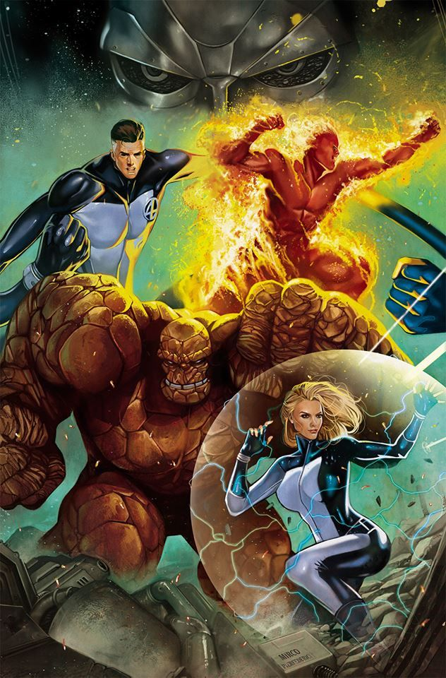Thing, Human Torch, Invisible Woman and Mister Fantastic - The Fantastic Four #Marvel Comics