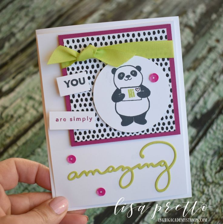 Stampin'Up! Amazing You stamp set, Celebrate You thinlits, Party Pandas stamp set, SaleABration. Get all of these items for free with a qualifying purchase, papercrafts, DIY, I made this