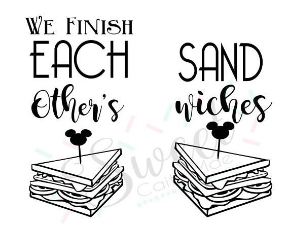 Disney T-shirt / We Finish Each Other's Sandwiches /