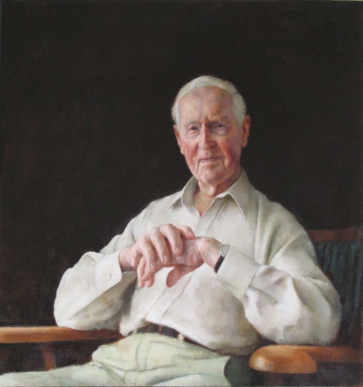 Portrait of Frank Fenner AC CMG MBE, 2007, Oil on linen, 107mm x 101mm