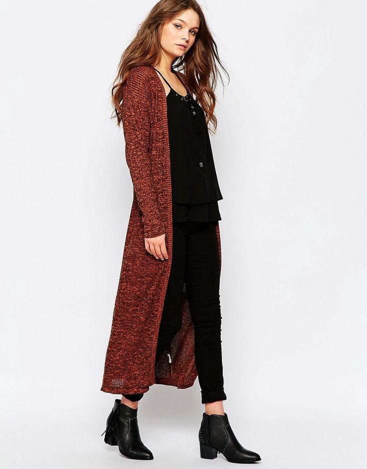 Image 1 ofFirst and I Navia Long Knit Cardigan