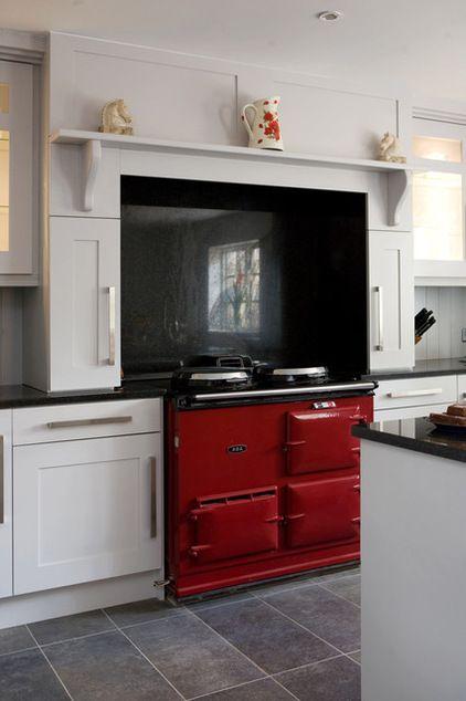 Kitchens, Glenval Kitchens, Kitchens Ideas, Red Kitchens, Red Aga