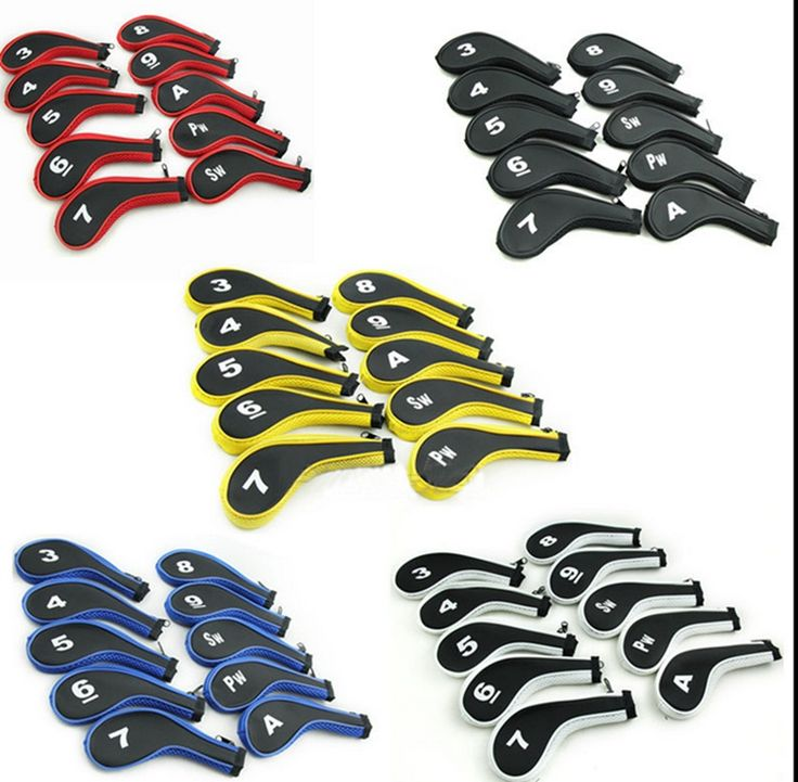 OEM Zipper Golf Club Iron HeadCover,Golf Head Covers Set with Number Tag