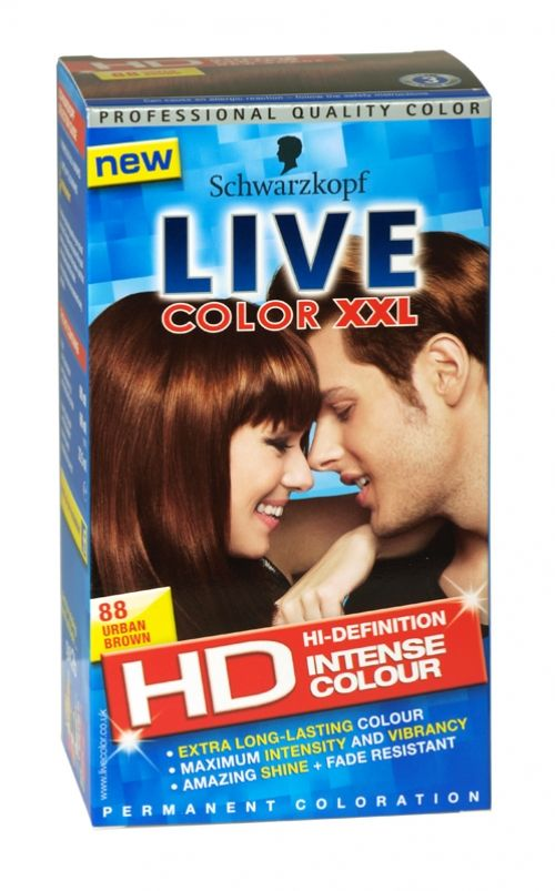 Schwarzkopf live color xxl hd hair colour 88 urban brown