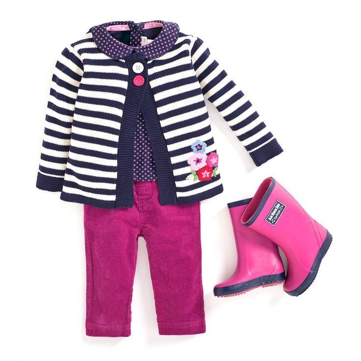 Signature Breton-inspired styling looks chic all year round. #outfit #kidsfashion #childrensfashion