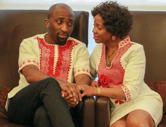 BEAUTIFUL AFRICAN COUPLE matching outfit by AFRICANISEDSHOP