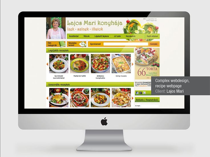webdesign and web development for online recipe store