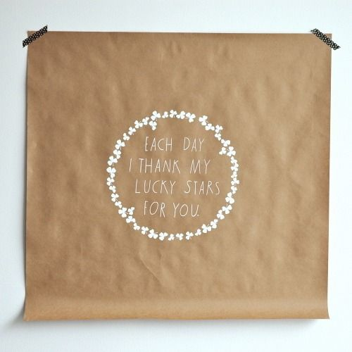 ..Lucky Stars, Inspiration, Clovers, Shanna Murray, Quotes, Wall Decals, Design Sponge, Families, Diy Projects