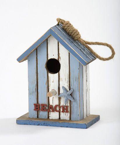 Nautical-Design-Wooden-Beach-Birdhouse-Bird-House-Decoration-Ornament