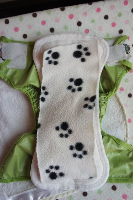 Make your own reusable cloth diaper liner.