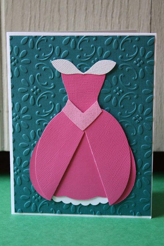 Cinderella Princess Party Set Handmade Card & by HootandTootsLoot