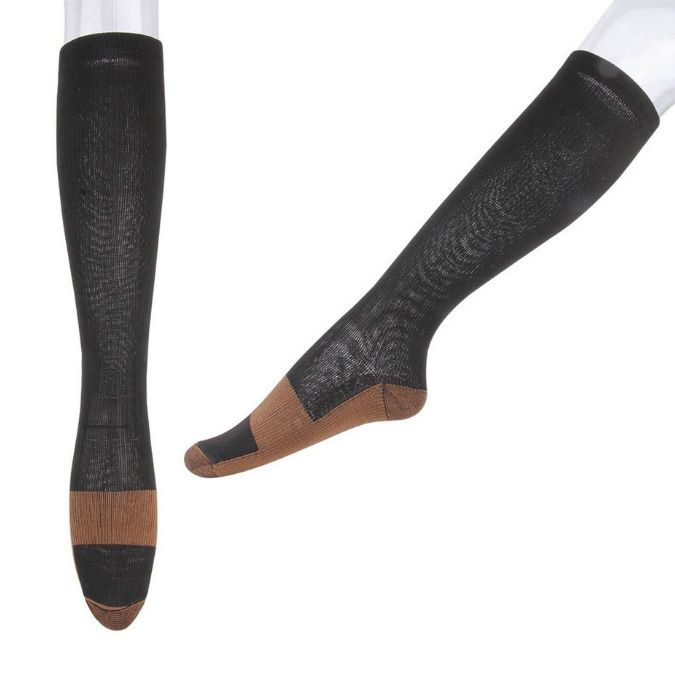 3 Pair - Anti-Fatigue Compression Knee Socks – Compression Apparel