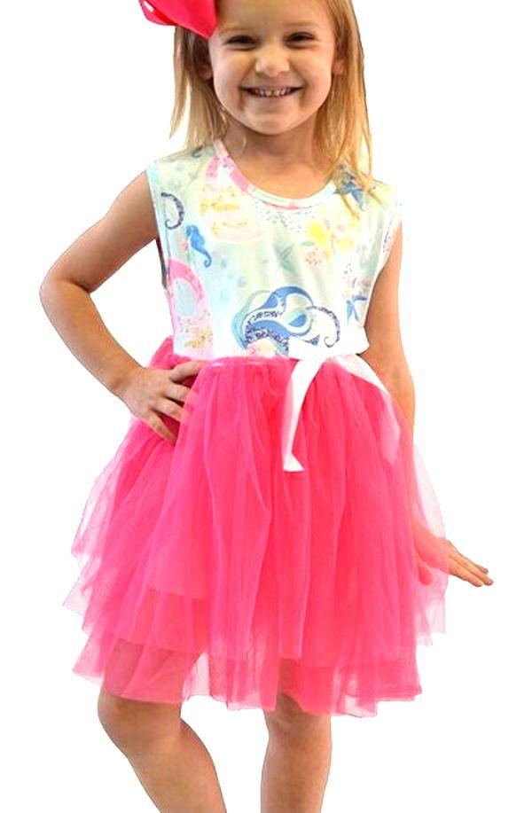 c1debcd9cd60 Hot Pink Tutu Summer Dress 6m 12m 18m 2 3 4 5 6 7 8 dp