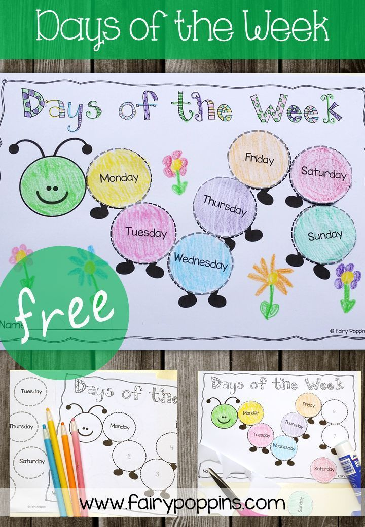 Days of the Week | Teaching stuff | Elementary schools, Days