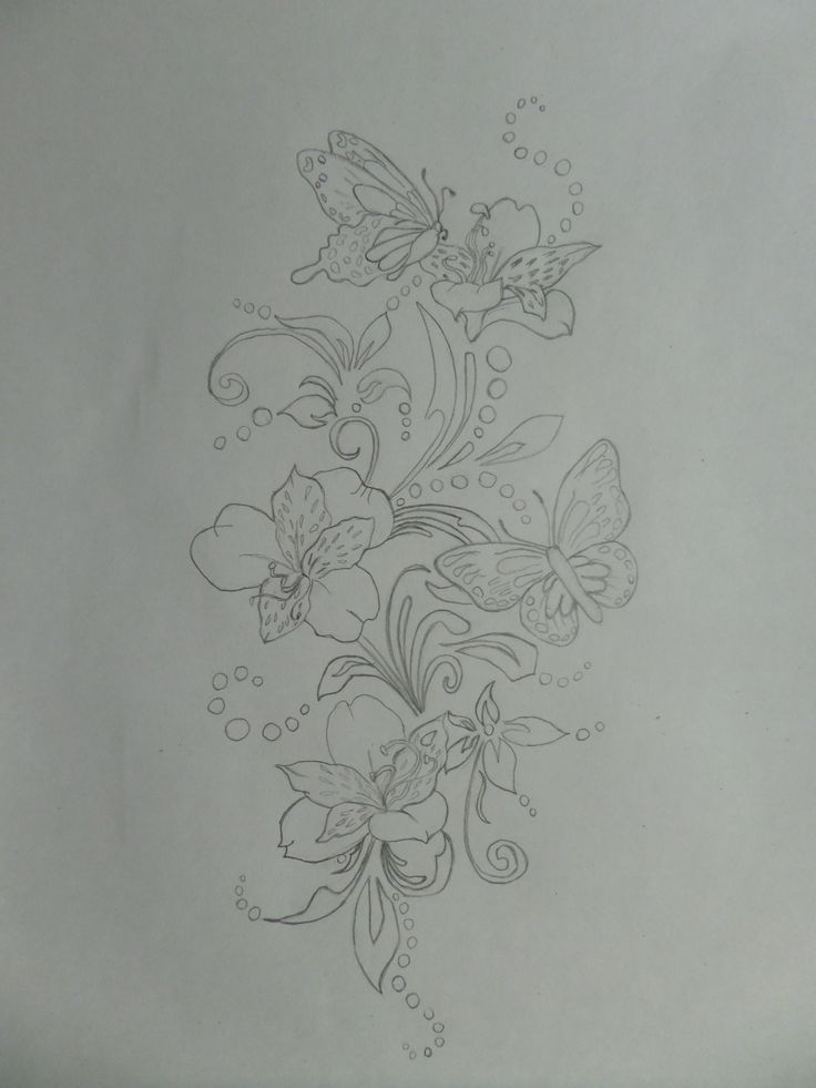 Цветы,рисунок карандашом.