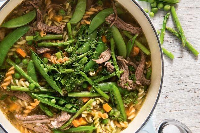 Spring Lamb Soup Recipe Easy Lunch Recipes Lamb Shoulder Roast Leftover Roast Lamb