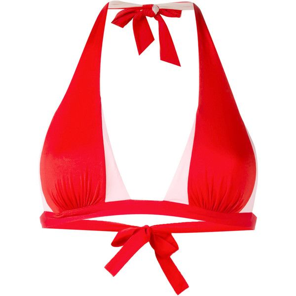 La Perla Plastic Dream bikini top (93 PAB) ❤ liked on Polyvore featuring swimwear, bikinis, bikini tops, red, red bikini top, tankini tops, plastic bikini, red tankini top and red swim top