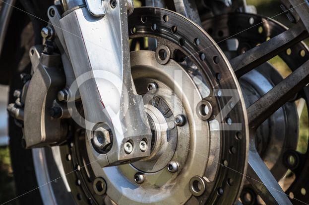 Qdiz Stock Photos   Sport bike or motorcycle brake disk,  #bike #black #brake #closeup #cycle #detail #disc #disk #metal #motorbike #motorcycle #round #safety #sport #steel #vehicle #wheel