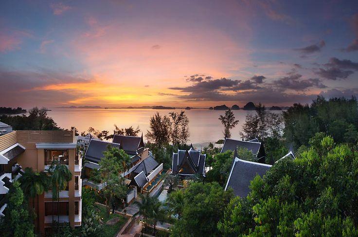 Perfect sunset in Krabi.