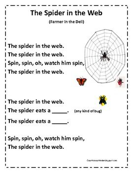 3 spider posters for warming up during read aloud time great for fall season my students like to make song books - Halloween Song For Preschool