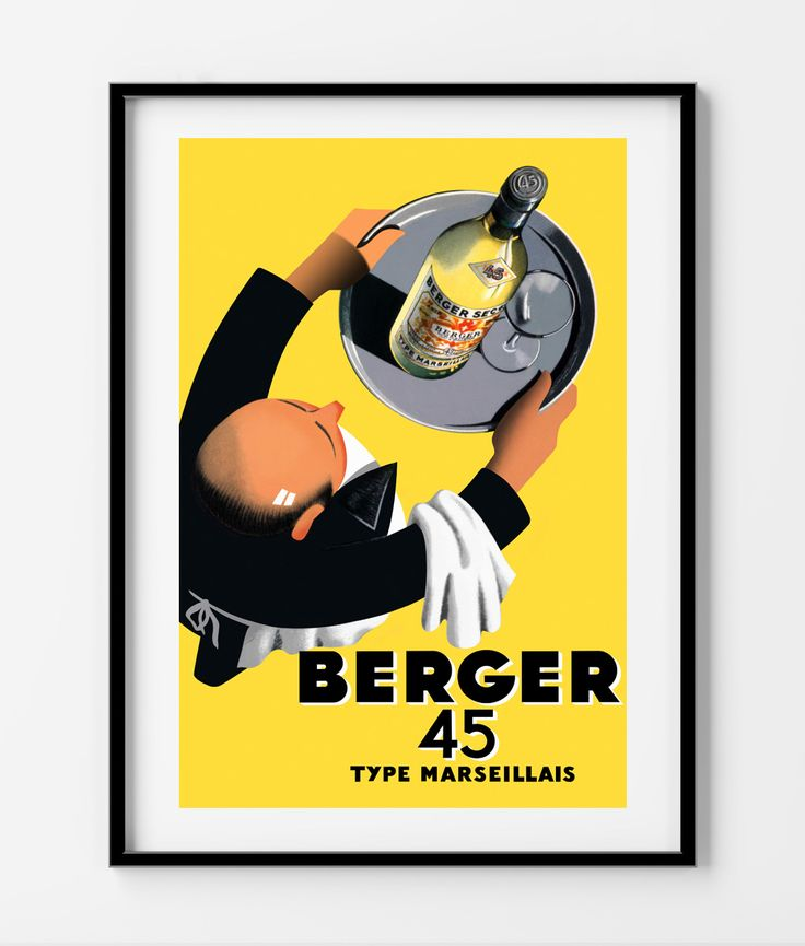 Berger 45 Vintage Poster- In different sizes