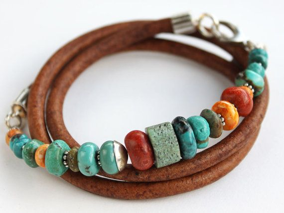 Turquoise Coral Artisan Bracelet by ChickpeaDesignStudio on Etsy