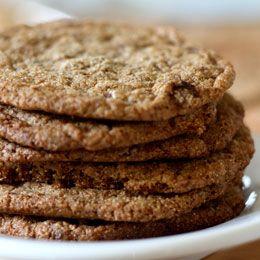 Seedy Molasses Cookies--high in fiber & calcium