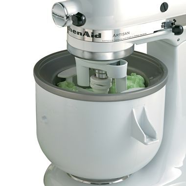 Kitchenaid Ice Cream Maker Mixer Attachment Kica0 Ice Cream Maker Ice And Kitchenaid