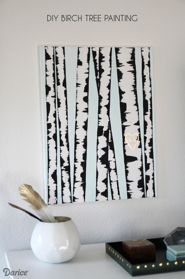 DIY Birch Tree Painting - so simple and fun!