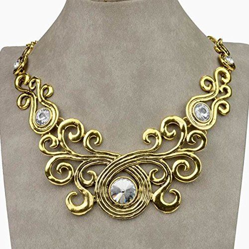 Noble VTG Gold Tone Clear Crystal Flower Bib Collar Pendant Necklace Thboxes http://www.amazon.com/dp/B00QNIGUTI/ref=cm_sw_r_pi_dp_e8Kfwb0B74Z75