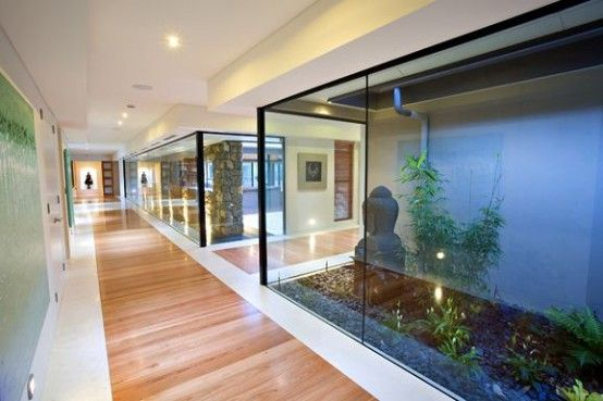 indoor garden -  Zen-like Home That Looks and Feels Like a Resort | DigsDigs